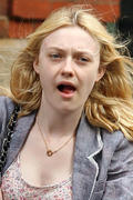 Dakota Fanning waiting for a Taxi in NYC 06/13/11