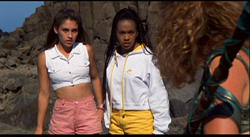 Amy Jo Johnson as Kimberly Hart with Karan Ashley as Aisha Campbell