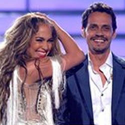 Jennifer Lopez y Marc Anthony en la Final de American Idol